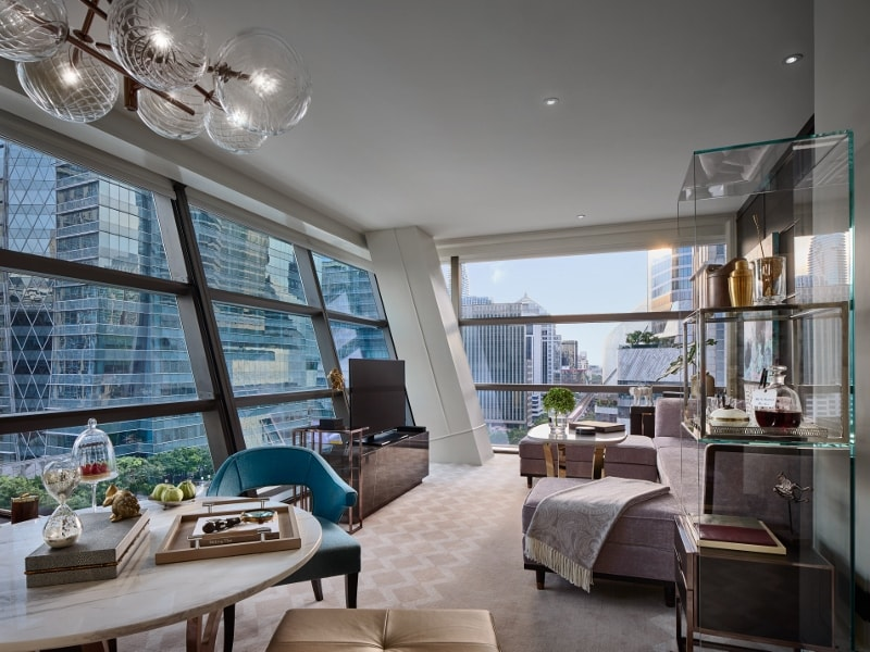 Luxury materials in interior decoration